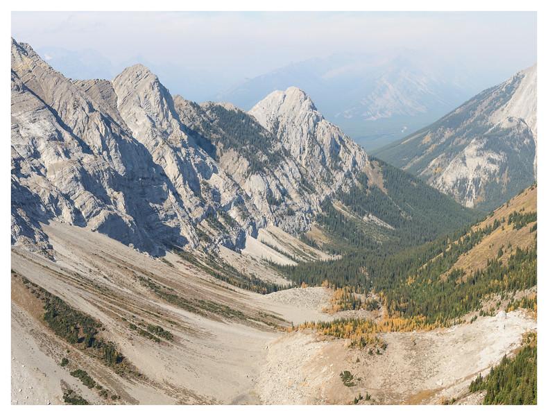 Rockfall valley