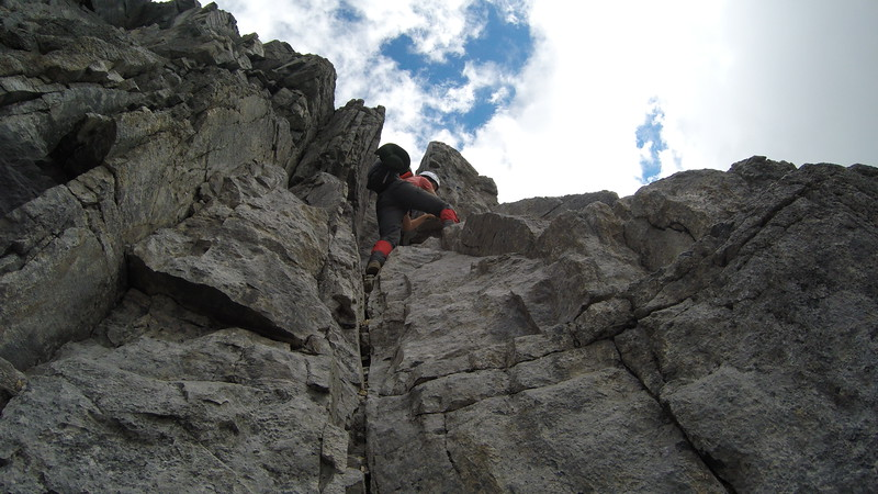 Conor getting to the top of the grey band.. from this angle it looks pretty funky, but it wasn't really..  #gopro