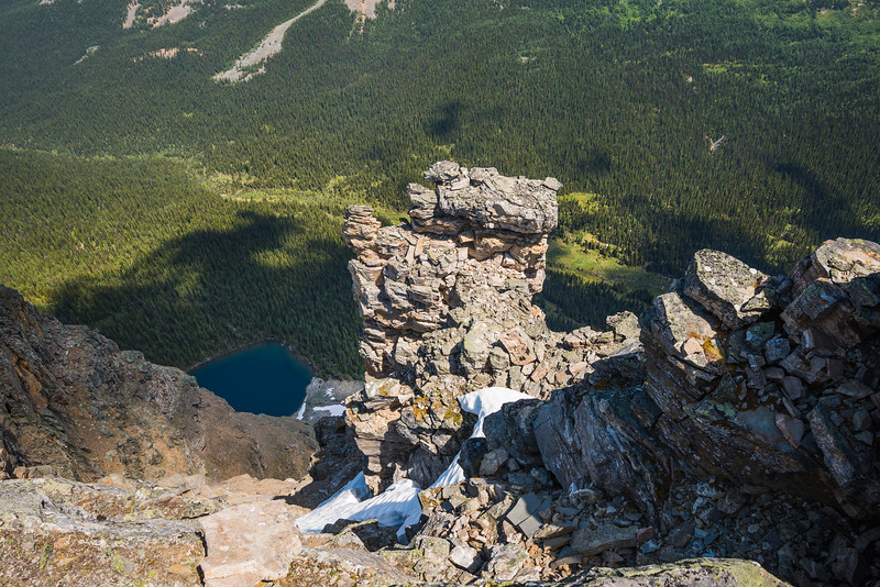 First views off the summit.