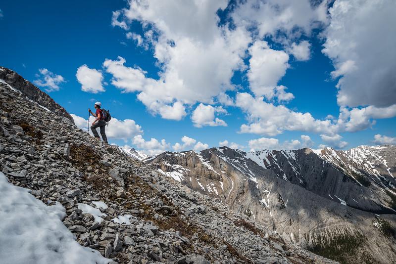 On the proper ridge.