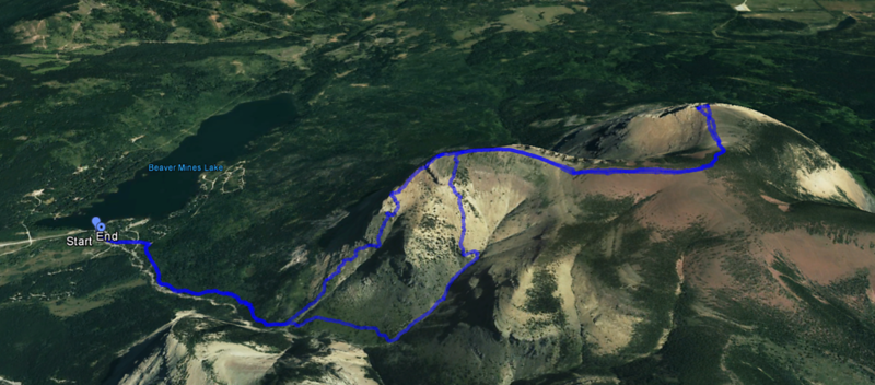 Table Mountain - Route map.