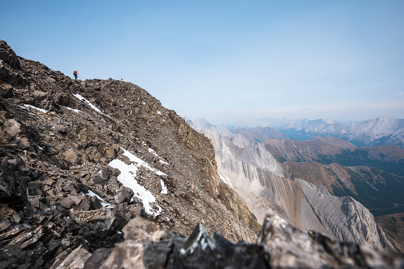 I setup the camera to take periodic photos and left to go stand on the summit while it clicked away.. that's me!