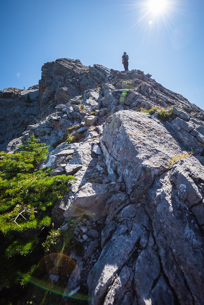 Conor waits for me to climb this next section.