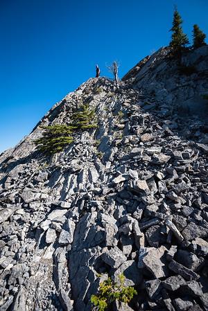 Conor atop a rocky outlook.