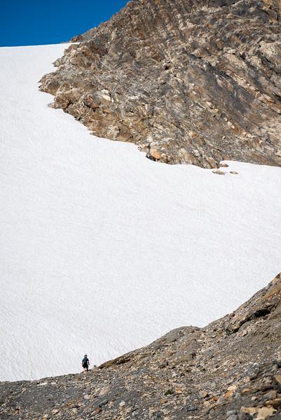 Conor and the glacier.