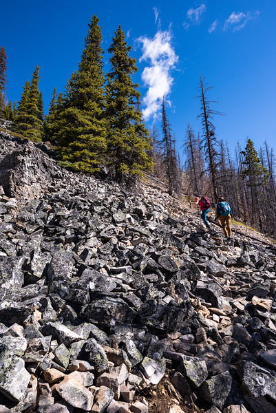 Tricky tricky when hiking up talus.