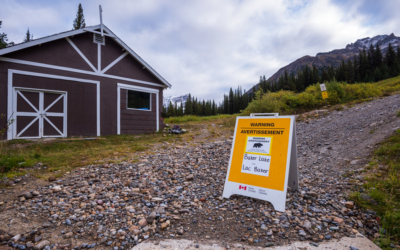 Bear warning at Baker lake. We're not staying there but will be hiking nearby.