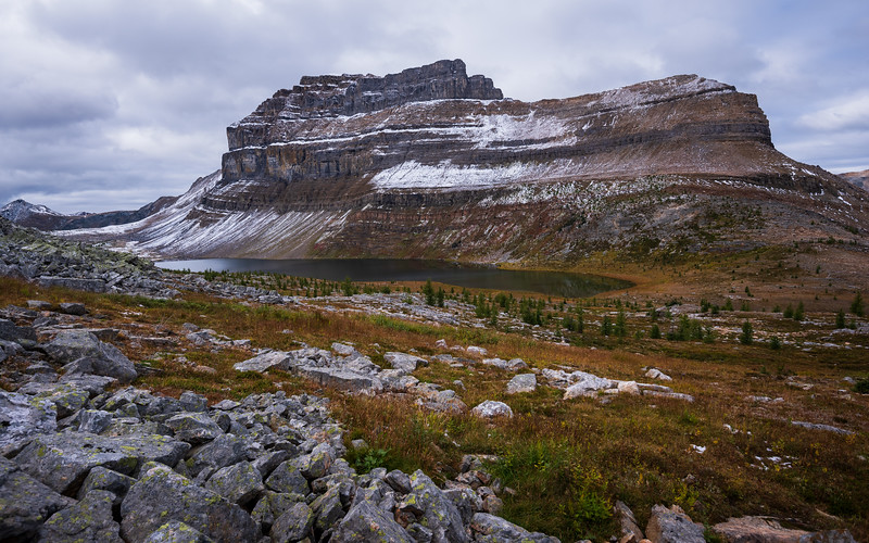 A look back towards Mt Redoubt on our way up Heather ridge.