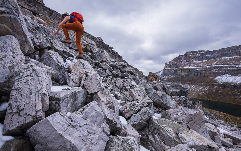 Like being at the playground, we climb over large boulders.. sometimes they are loose and move on us.
