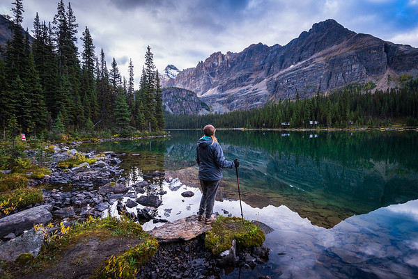 On our way to WiWaxy gap we stopped along the shores of Lake OHara hoping the light would come.. it came after we left.