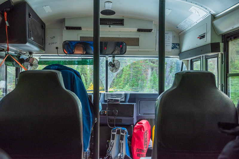 On the bus, headed to Ohara campground, excited about the adventures to be had.