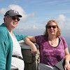 Frances and Rebecca on tower at Mount Mitchell