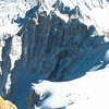 Vallee Blanche Glacier Skiing<br /> Scenery from Skiing the Gracier of Vallee Blanche (White Valley) from Mont Blanc (Aguille du Midi) to Chamonix, France