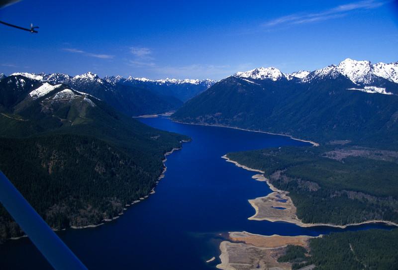 Lake Cushman on the eastern side of the Washington Cascades