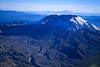 Mt. St. Helens, taken in November 2002, Mt. Hood in the background.
