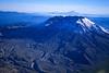 Mt. St. Helens, taken in November 2002, Mt. Hood in the background.