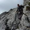 Descending on the Cavell Bernat ridge