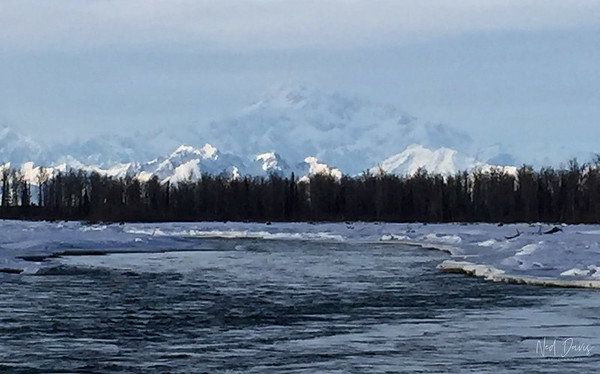 Talkeetna River, Alaska Range and Denali, Alaska