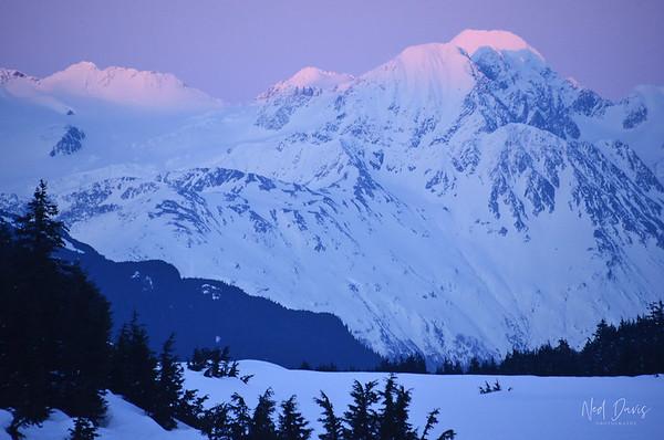 Denali at sunset, Alaska