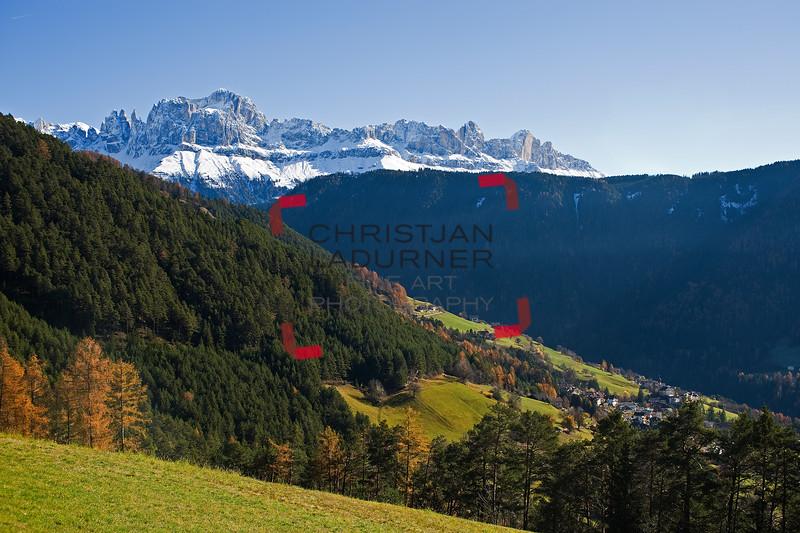 Tiersertal mit Rosengarten - Dolomiten