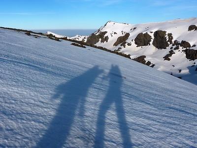 Trek from Ski area to Puente Palo, Sierra Nevada
