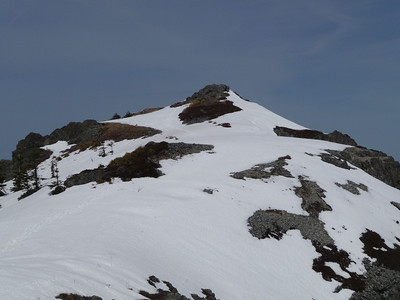 Looking back toward the summit of Silver Star