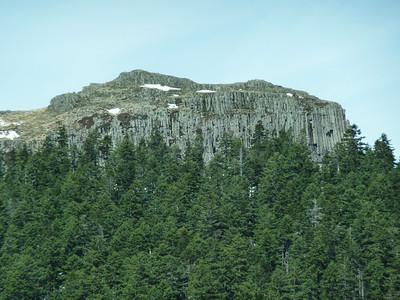 Close up of Sturgeon Rock