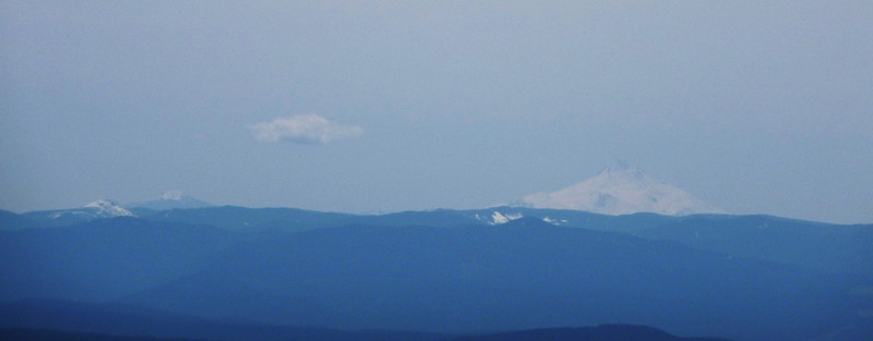 Mt. Jefferson on the right; not sure what peak on left