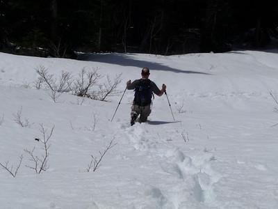 Russ knee deep in snow