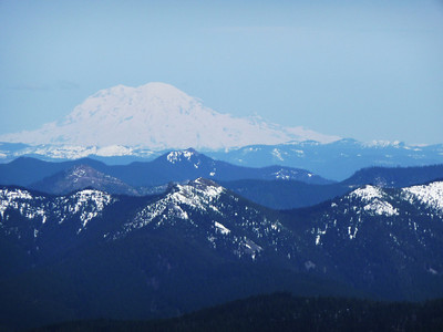 Mt. Rainier from the summit of Silver Star mountain