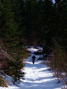 Russ breaking trail