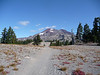 First glimpse of South Sister after hiking through the forest. Can't see the true summit from here.