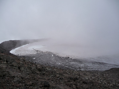 Took a quick snack break here. The light clouds make for a really cool crossing over the crater!