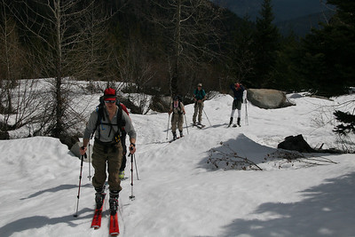 Spring Skiing East Cascades 4-09