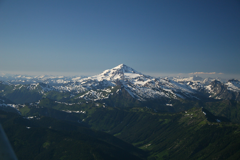 Mt. Glacier on the flight in