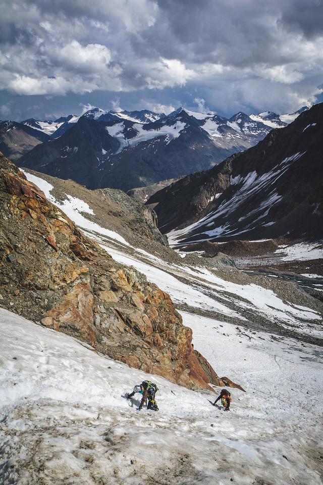 Climb on glacier