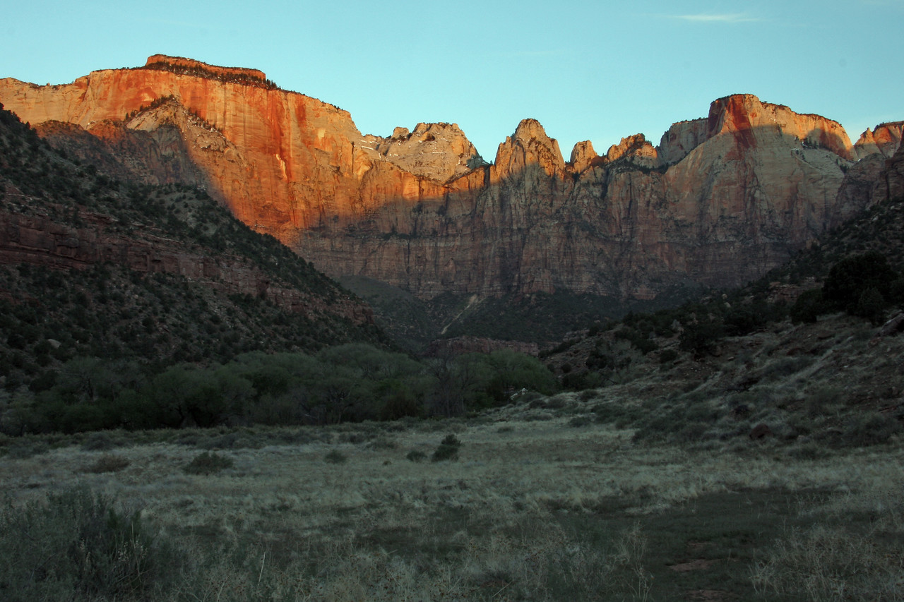 Sunrise on Zion