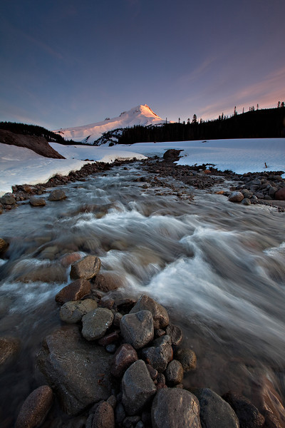 White River Flowing - Spring snowmelt from Mt Hood feeds the fast flowing White River