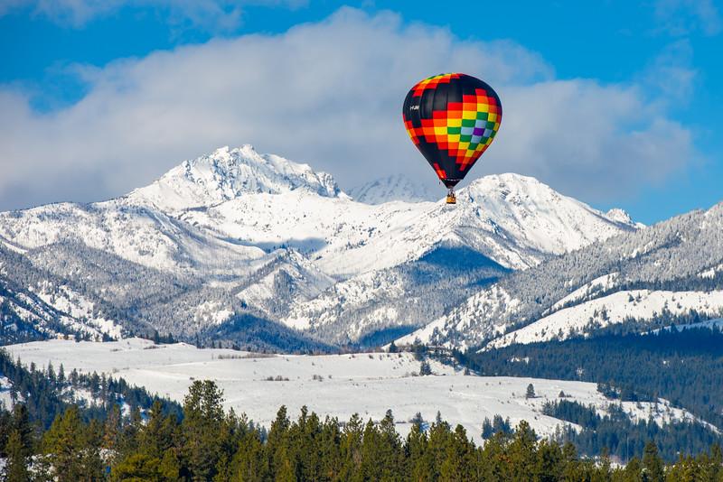 Balloon and Mountains