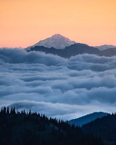 Sunrise above the clouds - MRNP, Washington