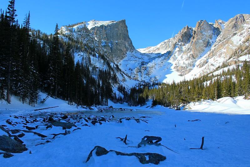 Wind Blown Snow on Frozen Dream Lake