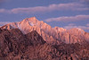 Alabama Sunrise - Early morning light bathes the Eastern Sierras, shot from the Alabama HIlls area