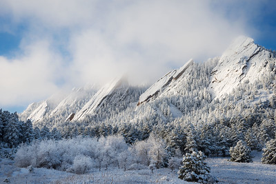 Flatirons in Snow