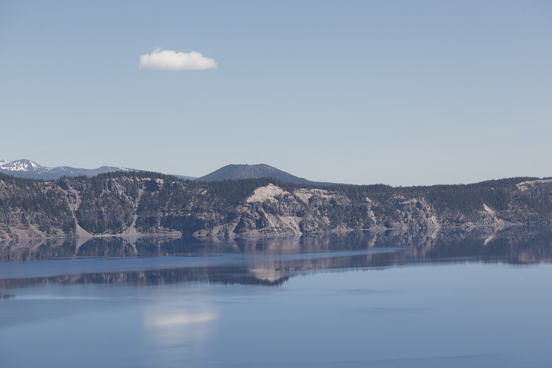Clear Blue Crater Lake