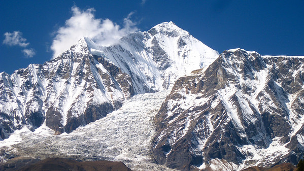 Dhaulagiri—7th tallest peak on Earth. Lower Mustang Valley, Nepal