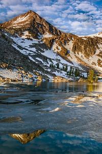 Sunrise at Island Lake, White Cloud Mountains, Idaho.