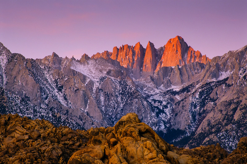 Alpenglow on Mount Whitney