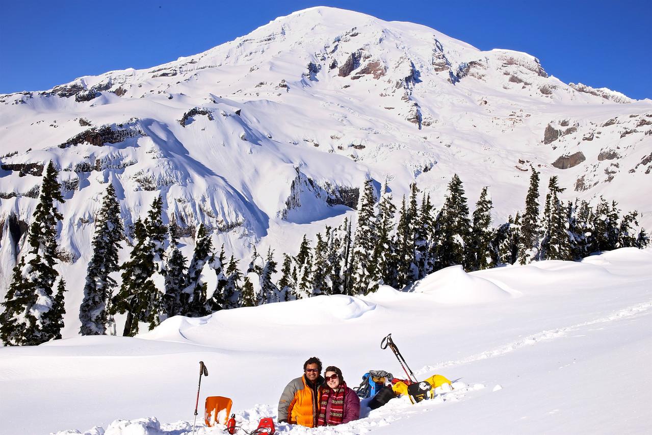 Snow Cave on Mt Rainier