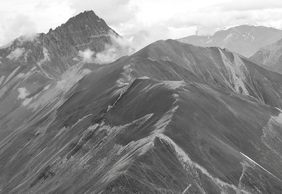 Scree Slope above Rex Glacier, Wrangell - St Elias NP, July 2009