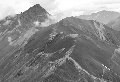 Scree Slope above Rex Glacier, Wrangell - St Elias NP, July 2009